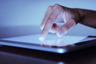 Finger pointing on a Digital Tablet (XXXL)