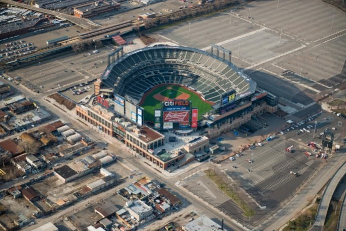 QUEENS,NY - APRIL 5: Citifield Stadium in Flushing Meadows-Corona Park in the New York City borough of Queens on april 5th,2015.It is the home baseball park of Major League Baseball's New York Mets