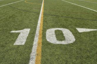 Ten yard line of a college football field