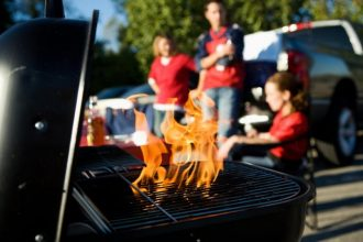 Grilling at tailgate