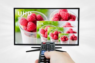 TV ultra HD. 8K television resolution technology