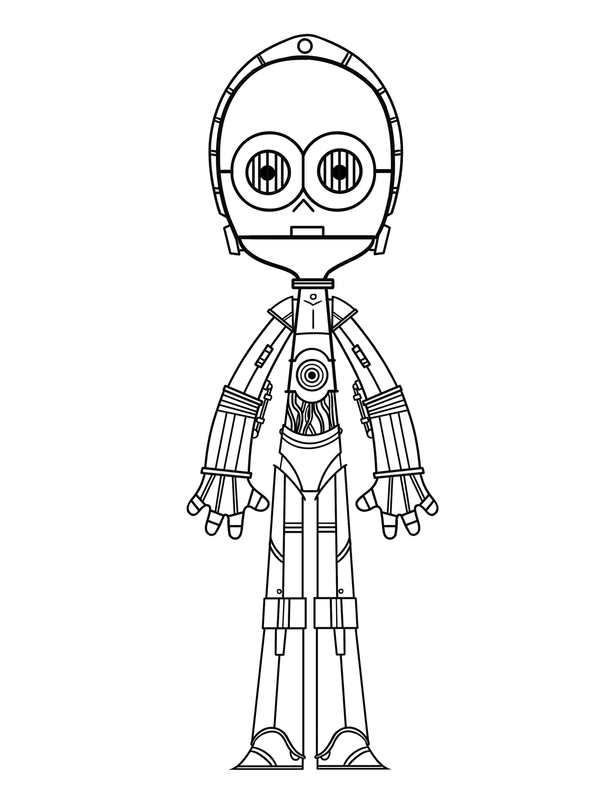 c3po coloring pages C3PO Coloring Page   THE DIG c3po coloring pages