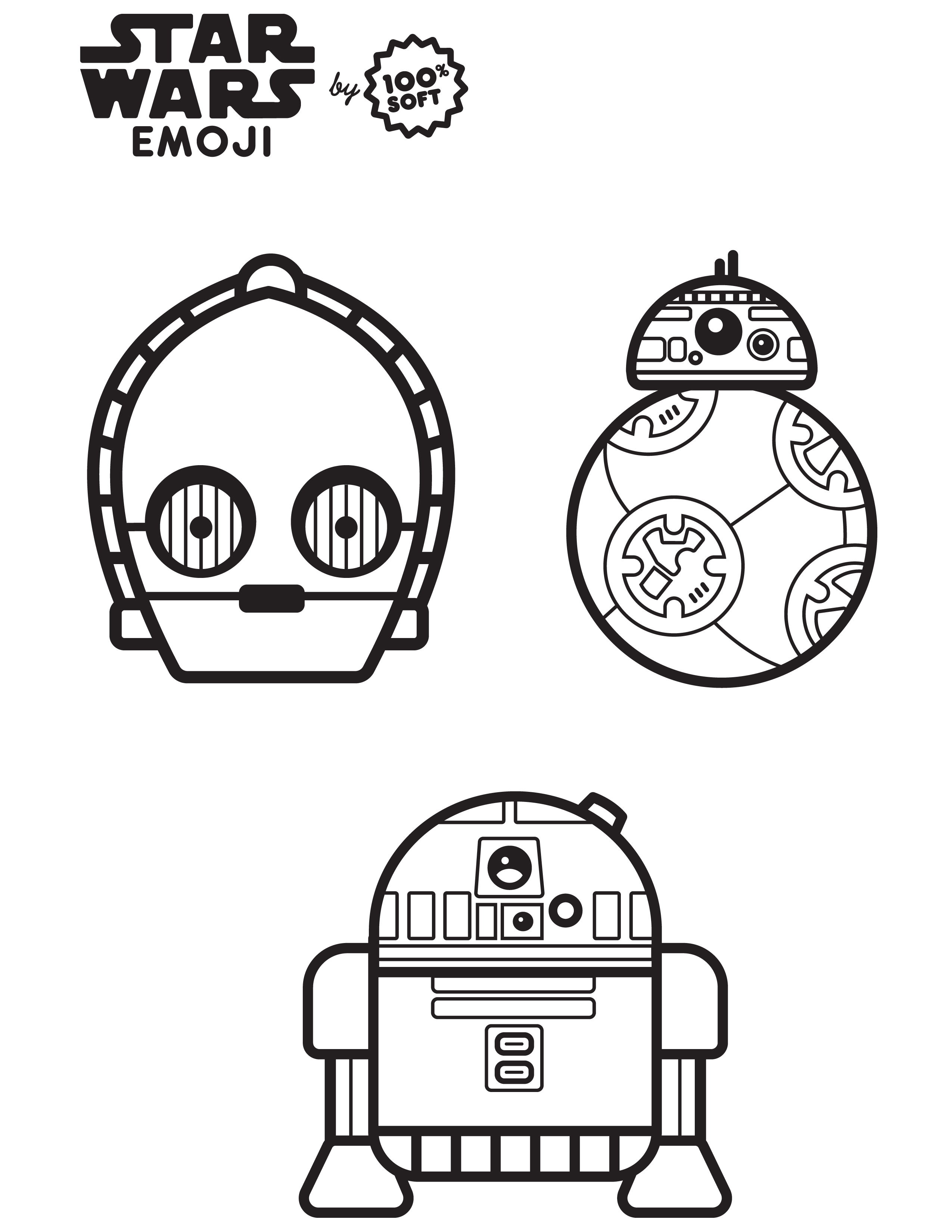 Star Wars Emoji Coloring Page The Dig